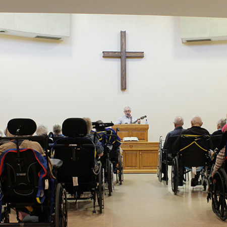 Chapel Service in a nursing home