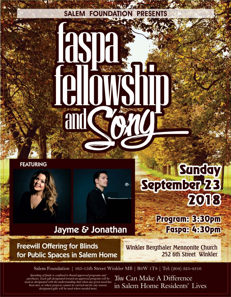 Faspa, Fellowship and Song presented by the Salem Foundation