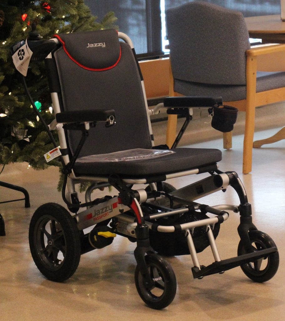 WBS gives back to Salem Home with Pride Electric Collapsible  Wheelchair